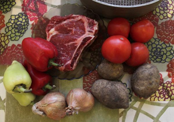 Рагу из говядины и овощей