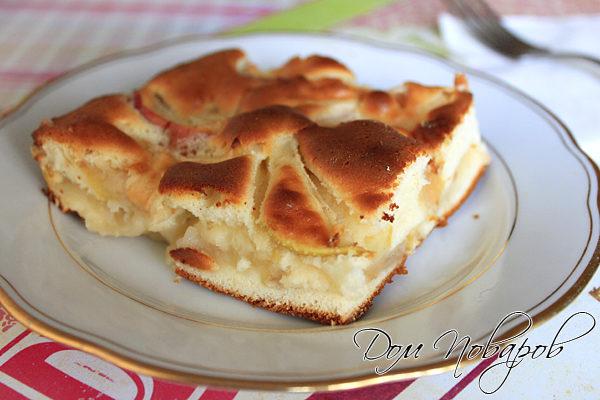 рецепт шарлотки с яблоками простой фото