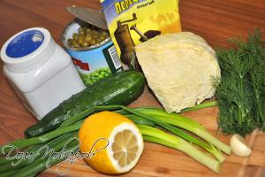 Простые ингредиенты для салата