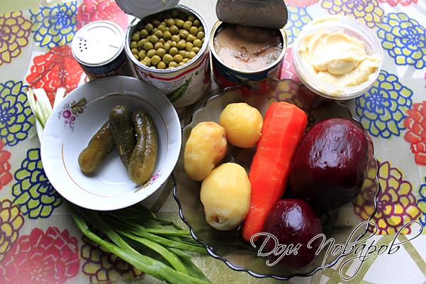 Сварите картофель, свеклу и морковь