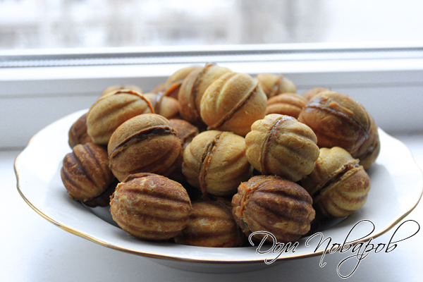 Орешки со сгущенкой - готовы