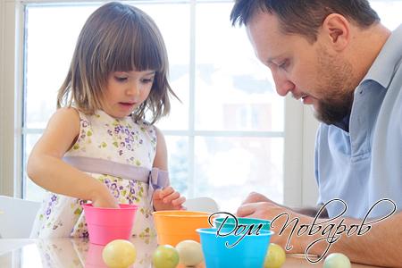 Подготовка яиц к покраске