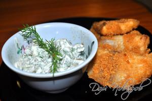 Соус тартар удачно сочетается с рыбными блюдами