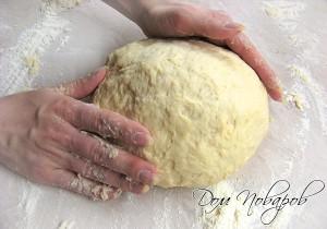 Поставить тесто в теплое место на 30 мин