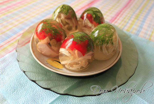 "Заливное ""Яйца Фаберже"" готово!"