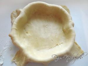 Раскатайте тесто и поместите в форму
