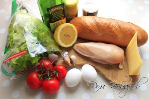 Подготовьте ингредиенты для салата и соуса