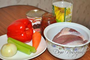 Продукты для рагу из говядины