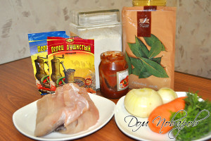 Подготовьте продукты и посуду