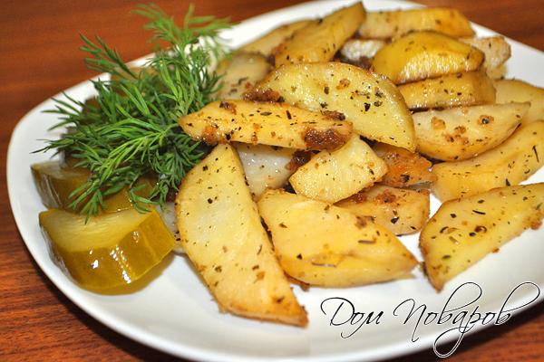 Готовые картофельные дольки